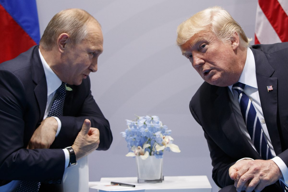 The White House says President Donald Trump has spoken on the phone with Russian President Vladimir Putin. The White House says Syria, Iran, North Korea and Ukraine were on the agenda.