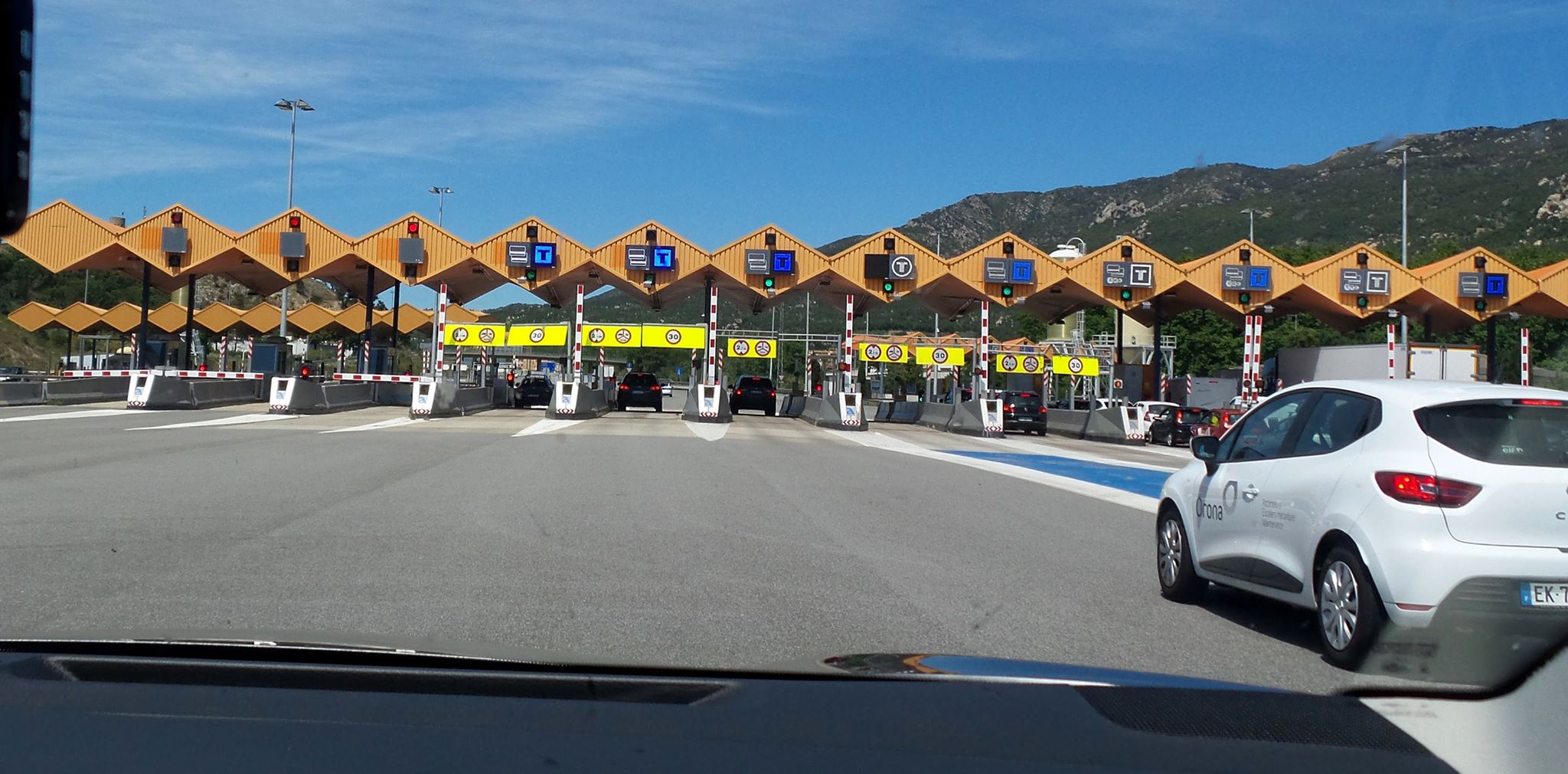 Almost all the highways through Spain, France, and Italy are toll roads, and can get expensive quickly. But at least they take credit cards.