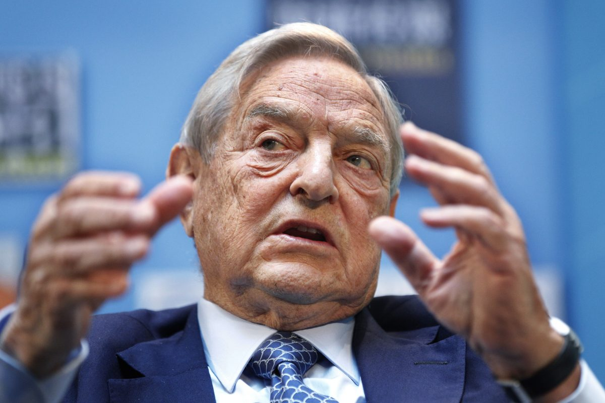 FILE – George Soros speaks during a forum at the IMF/World Bank annual meetings in Washington in 2011. (AP Photo/Manuel Balce Ceneta, File)