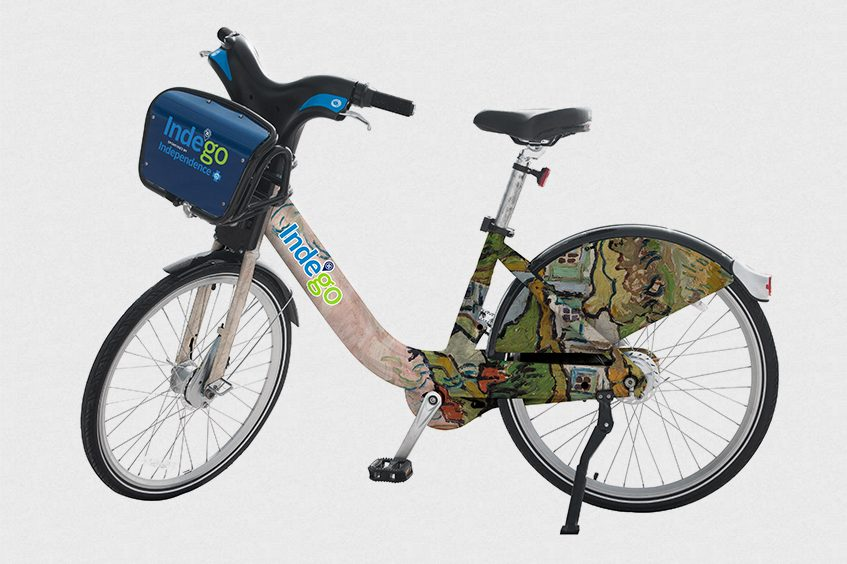 A fleet of 10 bikes wrapped in paintings from the Barnes collection is set to hit the streets Sept. 14 in a collaboration between the museum and Indego. Ten more will follow next spring.