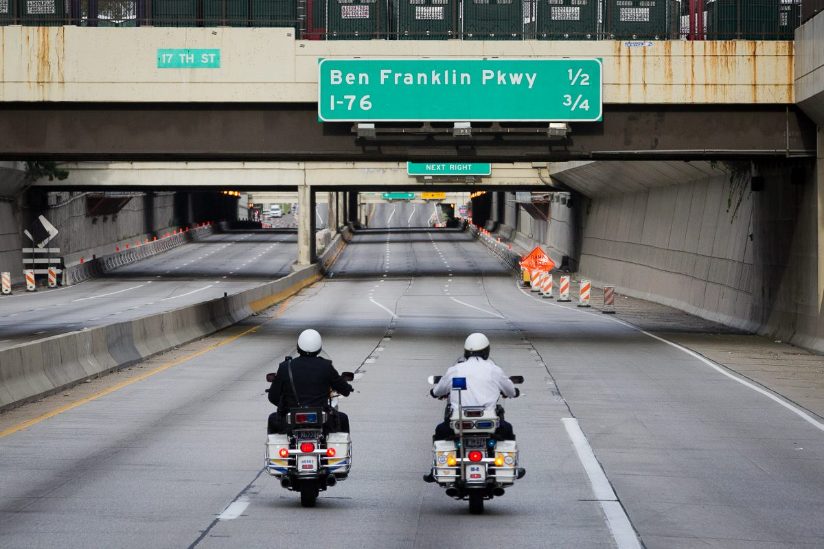 A section of the Vine Street Expressway will be closed overnight next week as crews work on demolishing the 18th Street Bridge.