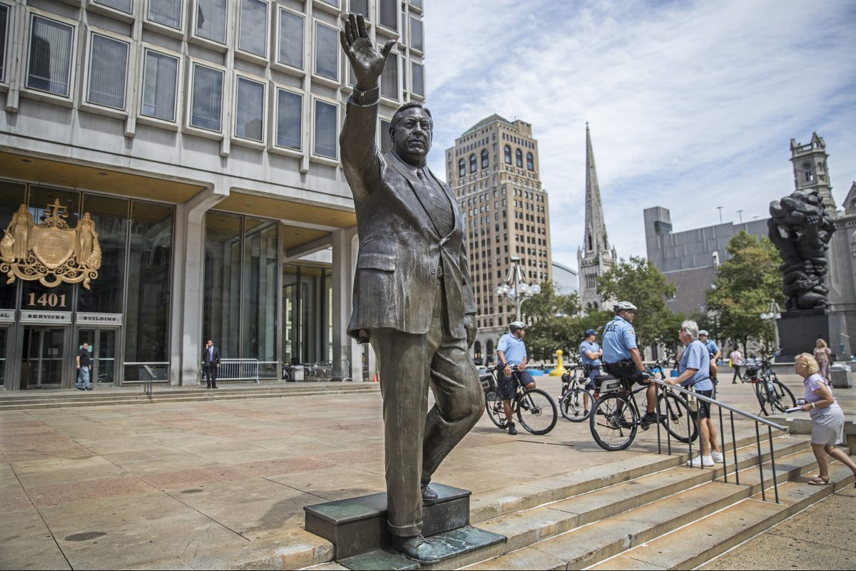 The statue. Make smaller copies. Move them to where people need to protest what's really happening.
