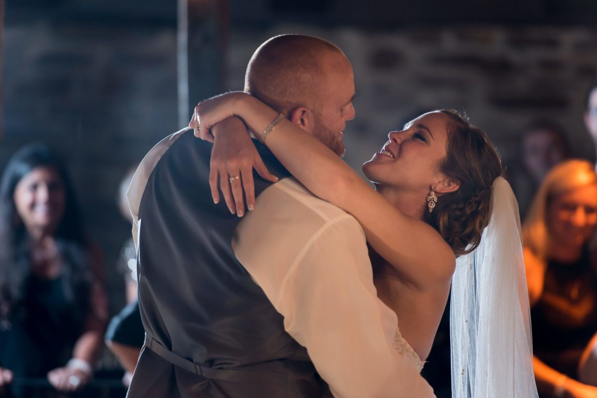 Bride and groom Frankie Hughes and Lindsey McKee.