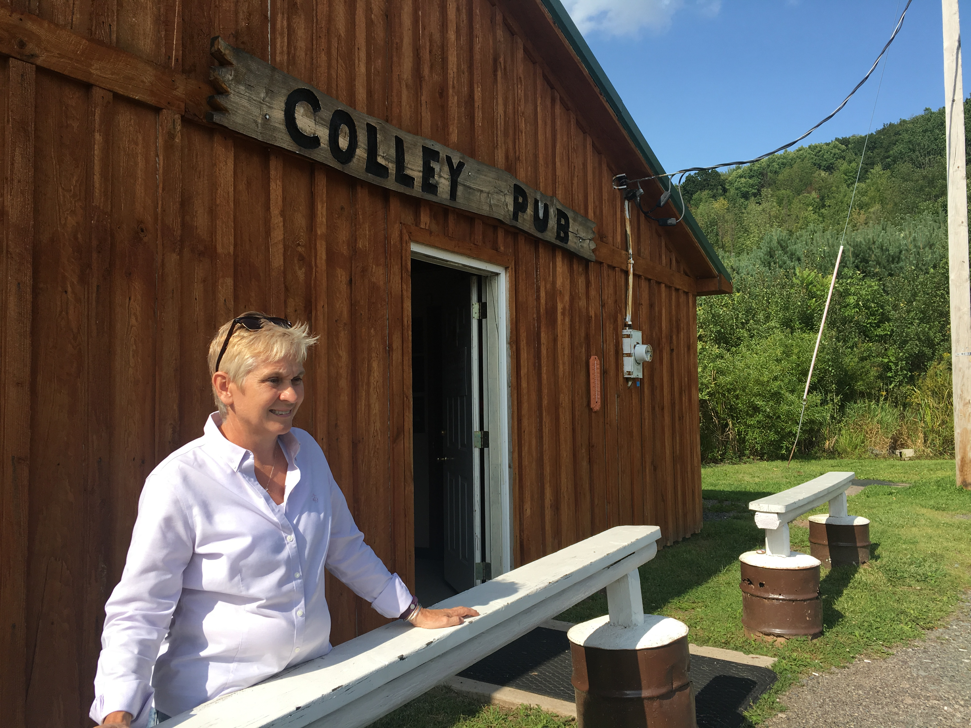 Donna Iannone, a Sullivan County commissioner. said she doesnt mind that theres no cell or internet service at her business, The Colley Pub, but shes still fighting to improve connections for others in the rural county.