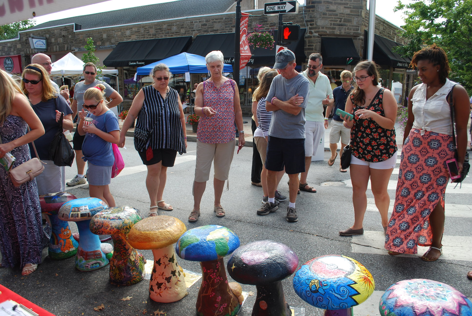 The Kennett Square Mushroom Festival Sept. 9 to 10) features arts and crafts. Last year, local artists created garden stools in the shape of mushrooms.