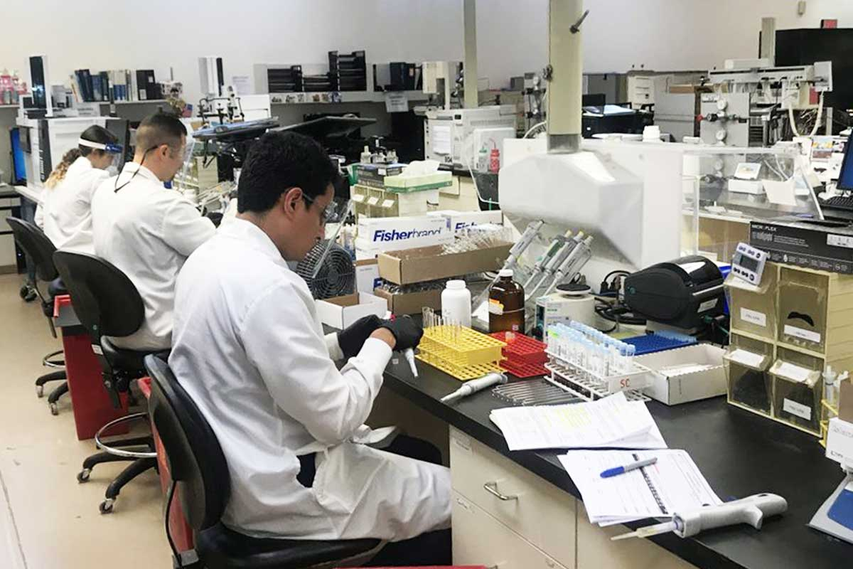 At NMS Labs in Willow Grove, scientists analyse crime evidence.