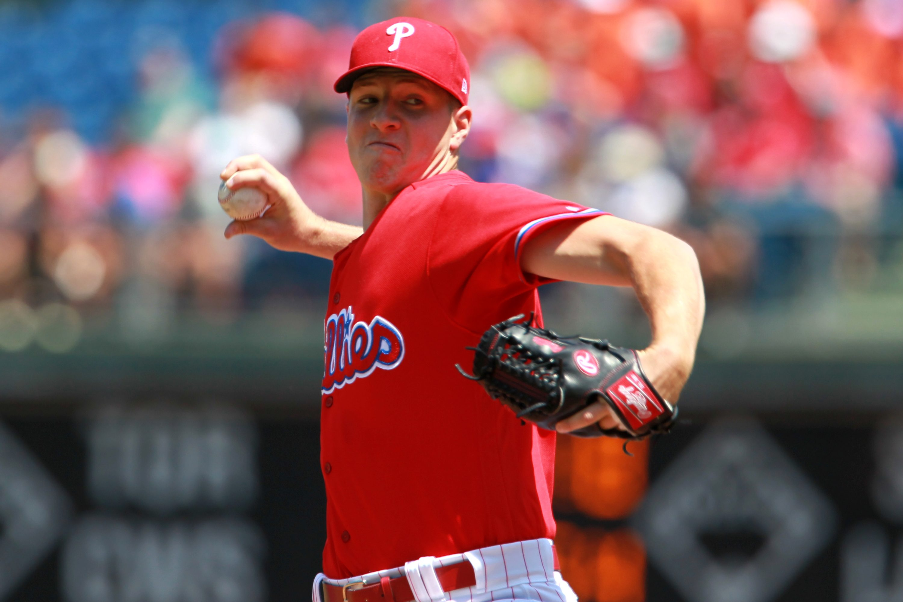 Nick Pivetta was one of eight Phillies pitchers to make his major-league debut this seasons. He struggled with the Phillies after dominating at triple-A Lehigh Valley.