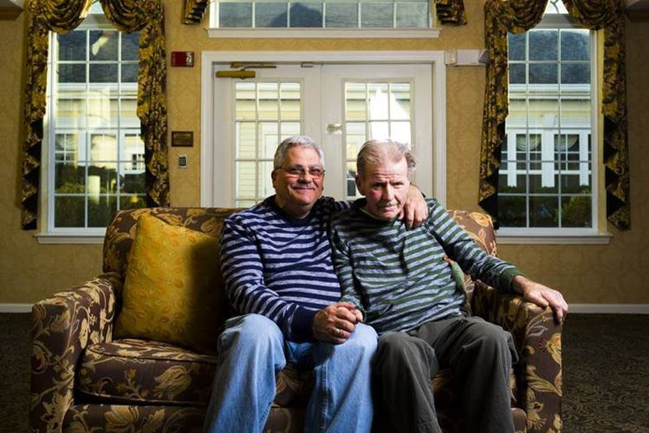 Anthony Iero (left) cared for his partner of 34 years, Paul Meyers, before he died of Alzheimer's in a Philadelphia nursing home. Now Iero is an activist against the disease.