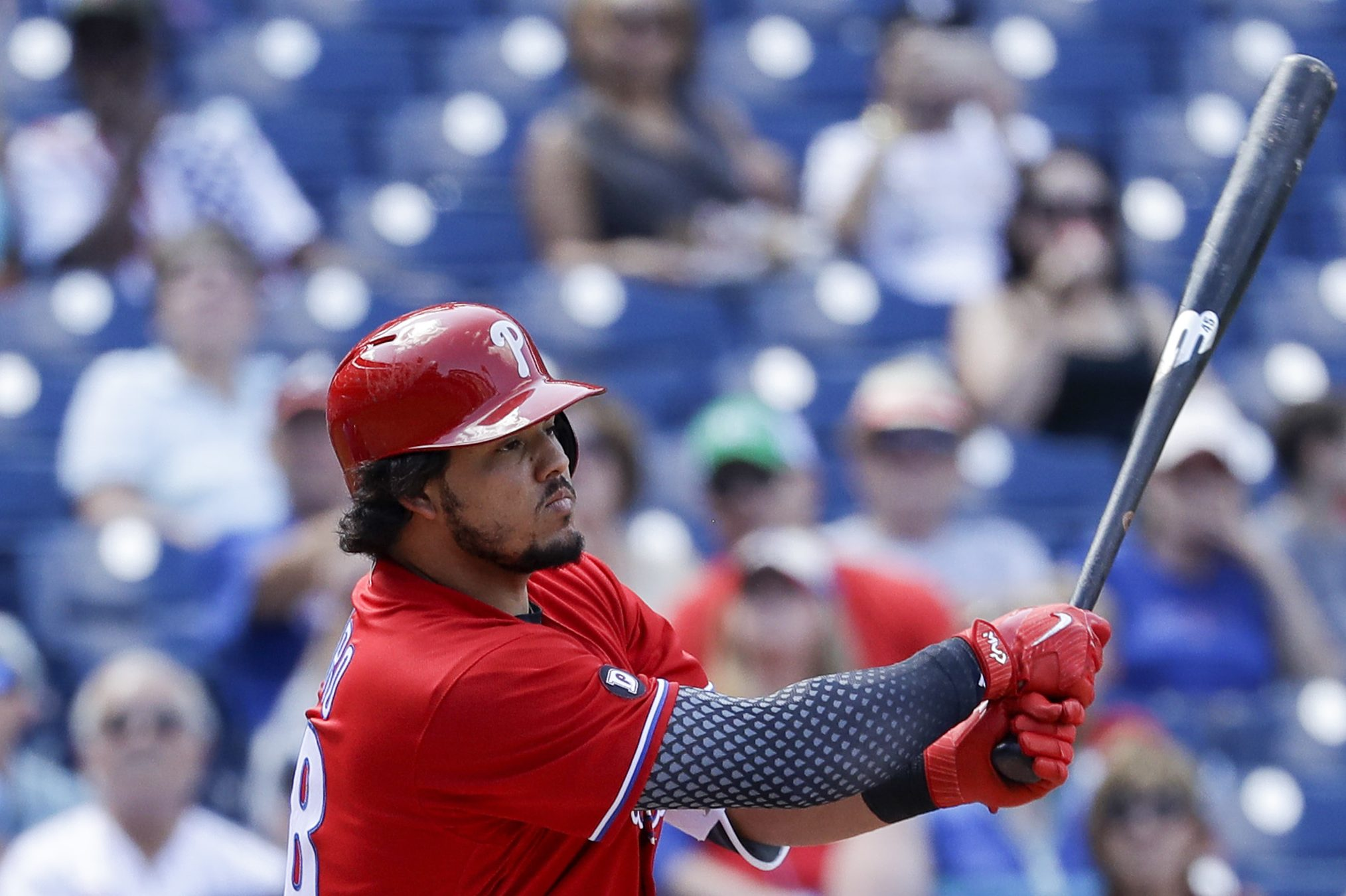 Jorge Alfaro could provide the Phillies with the kind of elite offense teams rarely get from their catcher. YONG KIM / Staff Photographer