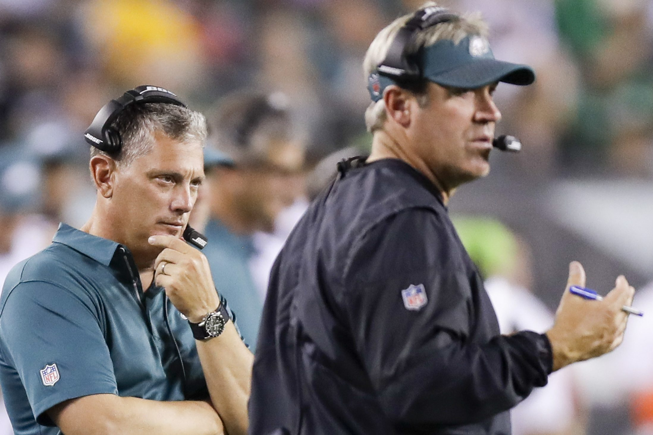 Eagles defensive coordinator Jim Schwartz was the only coach to draw praise from Mike Lombardi.