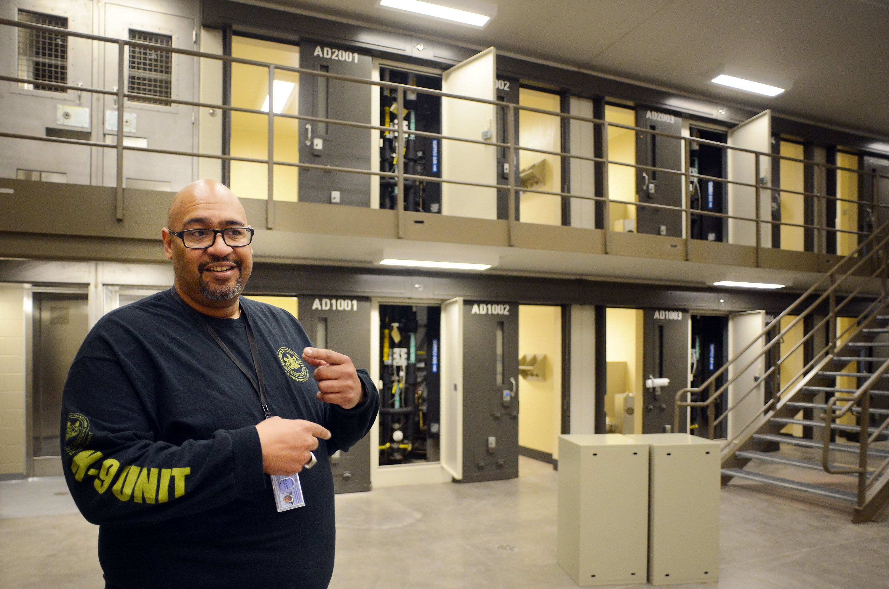 Corrections Secretary John Wetzel leads a tour through the newest prison in Pennsylvania Friday, September 01, 2017 at State Correction Institution Phoenix in Skippack, Pennsylvania. The facility is inching closer to opening, two years late, to replace Graterford Prison at a cost of $400 million. (WILLIAM THOMAS CAIN / For The Philadelphia Inquirer)