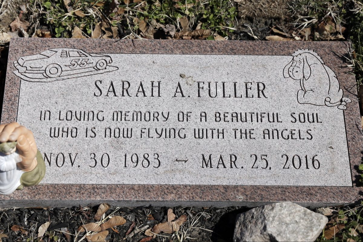 Sarah Fuller, 32, is buried in Berlin Cemetery. She died last year of a drug overdose, with fentanyl found in her blood. Her family believes that the drug was inappropriately marketed and prescribed.  (ELIZABETH ROBERTSON / Staff Photographer)