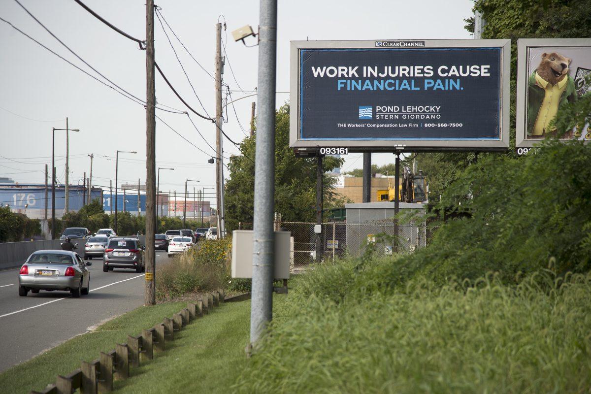 Pond Lehocky's billboards are prominent on  Philadelphia-area highways.