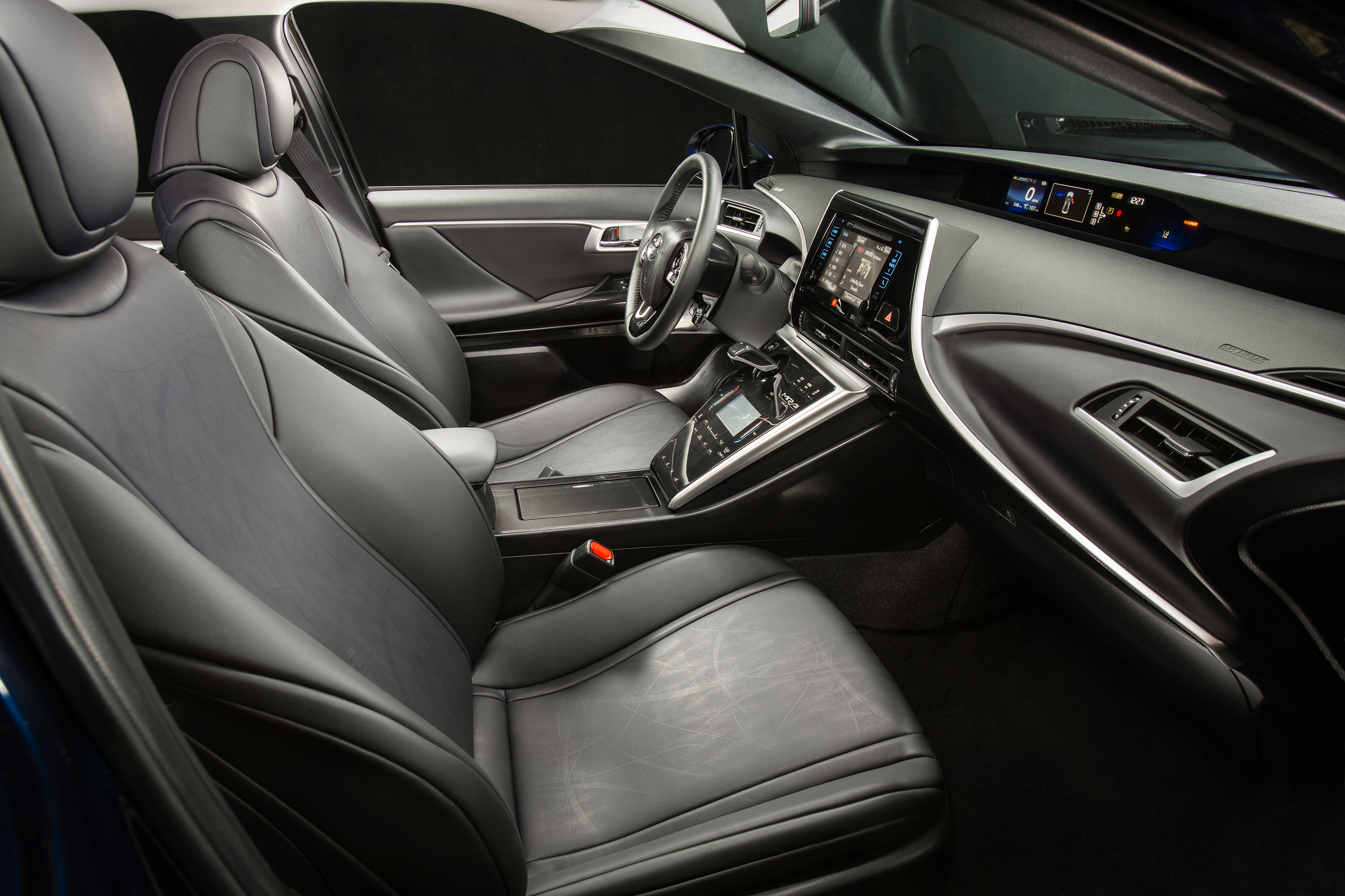 The insides of the Mirai are far upgraded from the Prius; the Lexus-level seats offer great comfort. It's the least Toyota could do for the $57,500 price tag.
