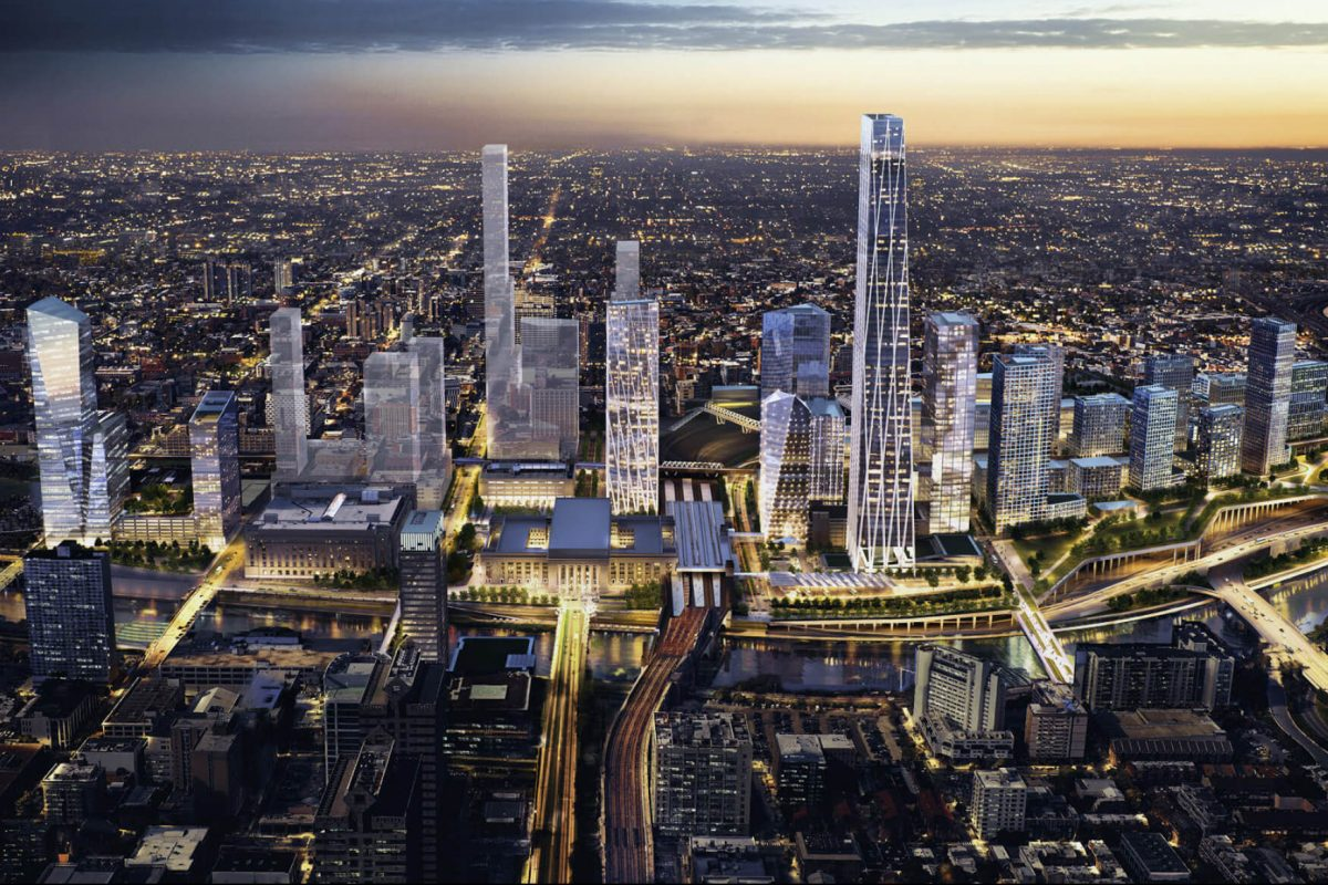 Schuylkill Yards, the 14-acre project in West Philadelphia planned by Drexel University and Brandywine Realty Trust, could be a prime location for Amazon if it were to locate in Philadelphia, officials say, given its available land and access to public transit.