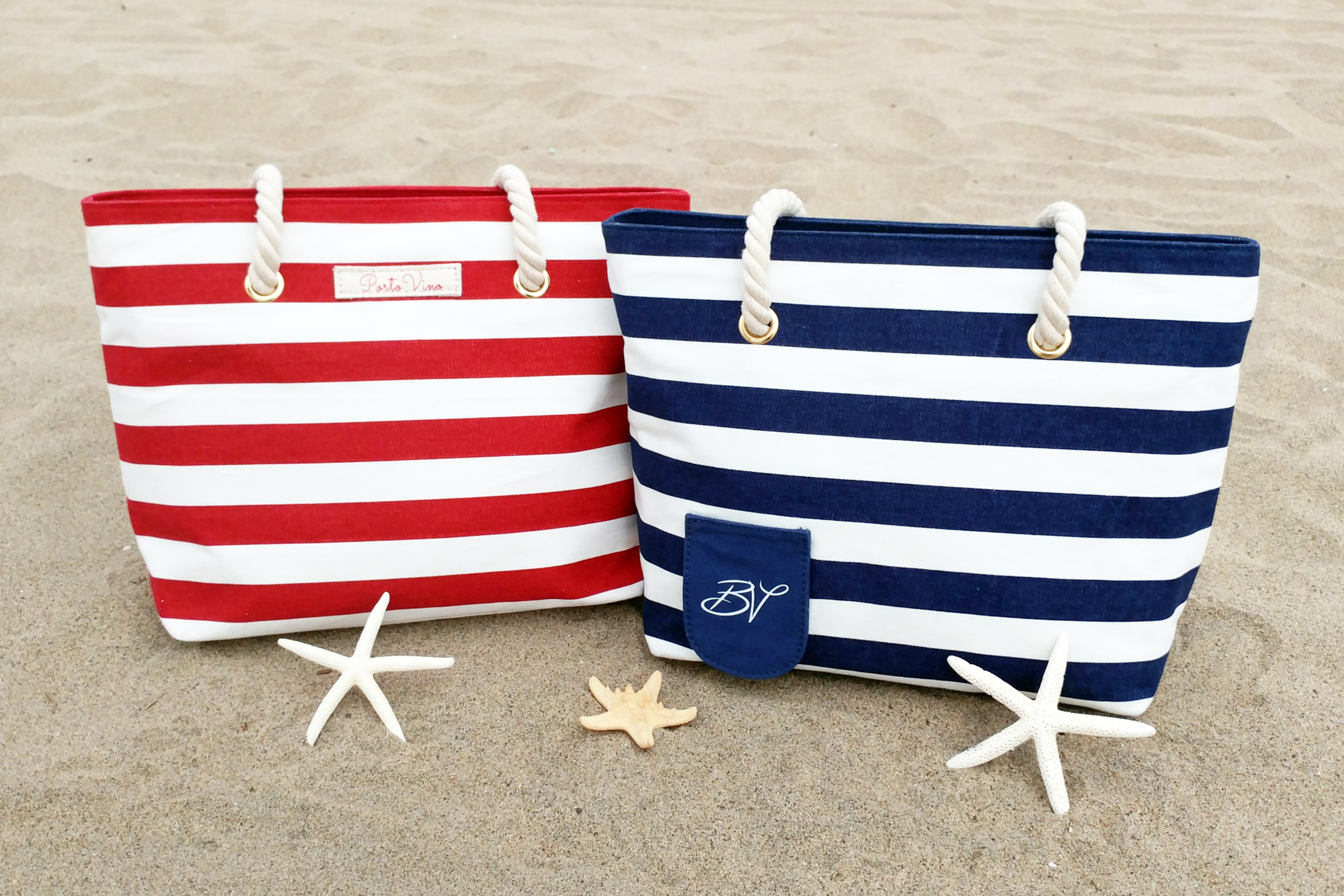These canvass bags from from Pheonix-based company Bella Vita are perfect for the beach.