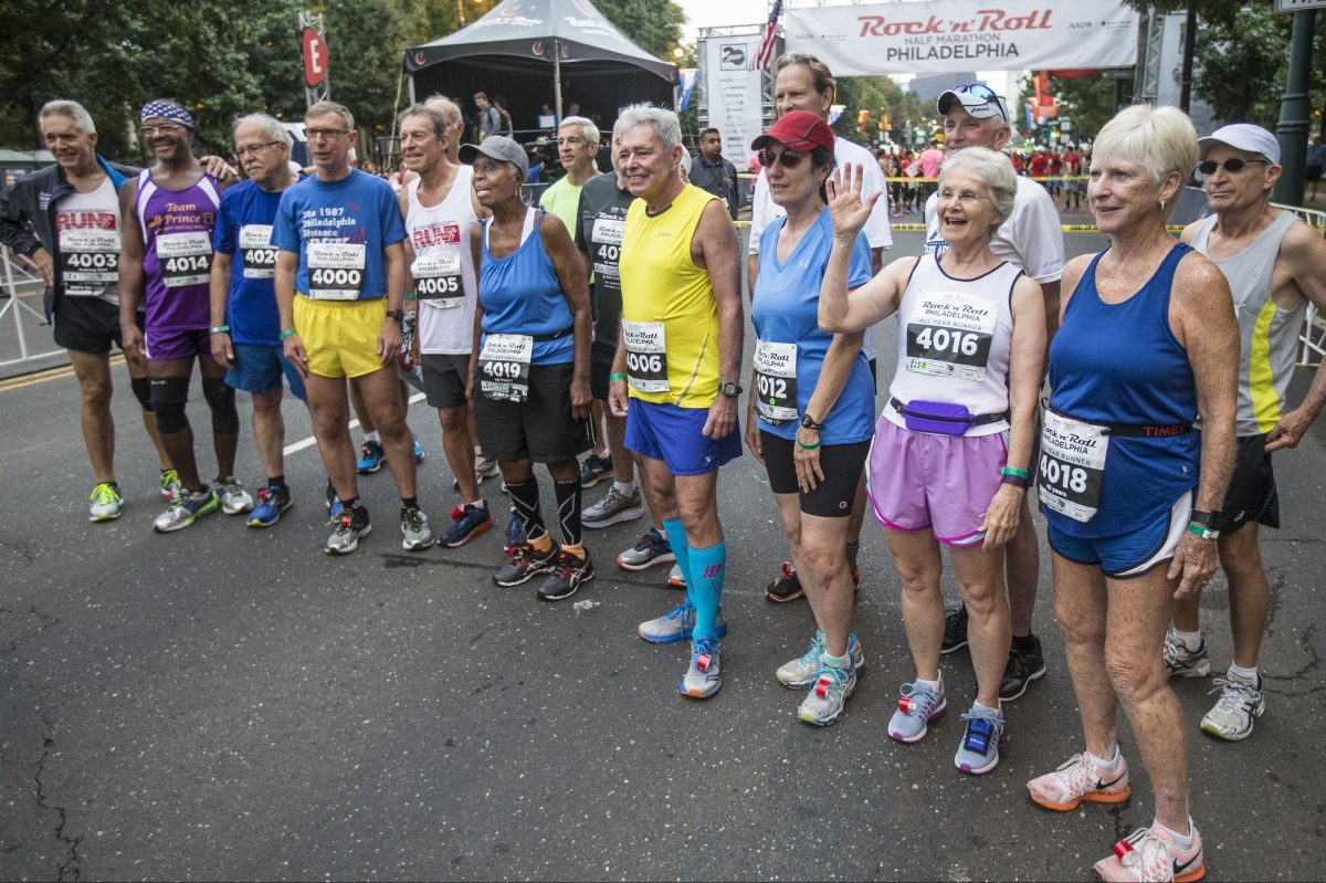 These are some of the people that have run in each of the last 40 Rock 'n' Roll Half Marathons in Philadelphia. Twenty-three  runners  ranging in age from 58 to 87 have reached the milestone.