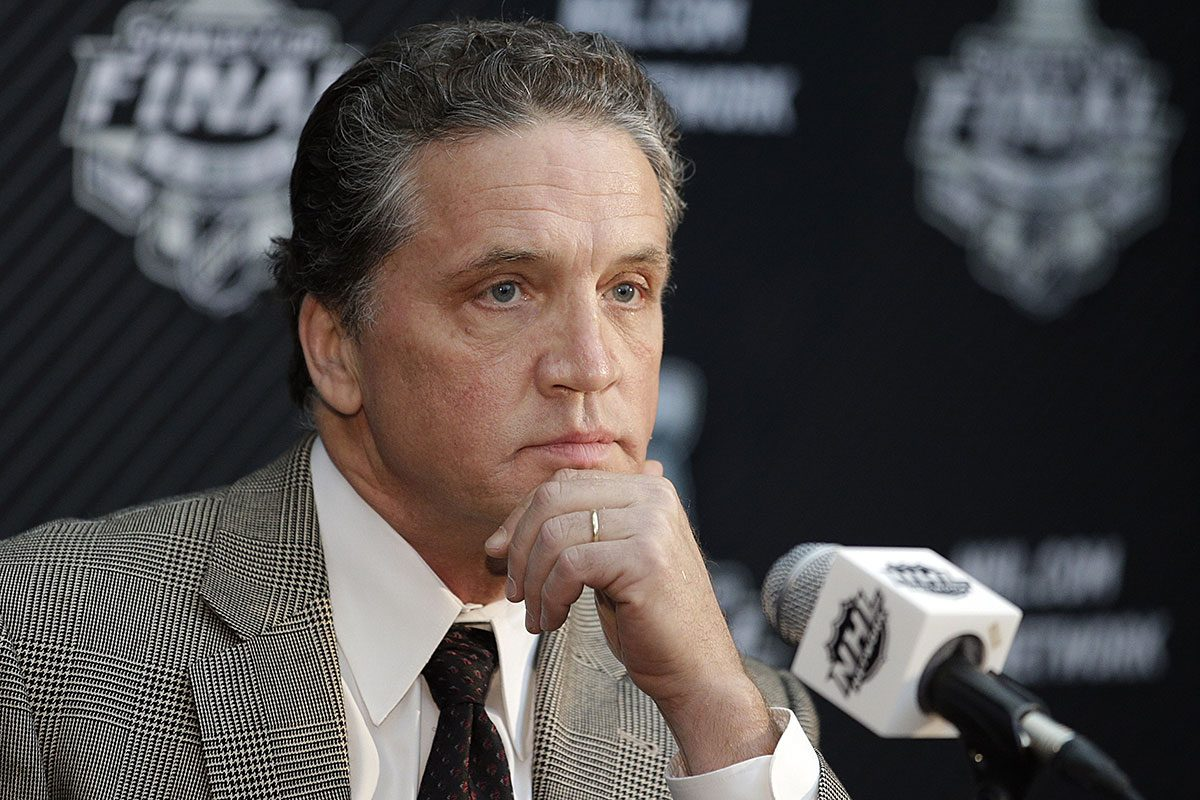 Dean Lombardi won two Stanley Cups as GM of the Los Angeles Kings.