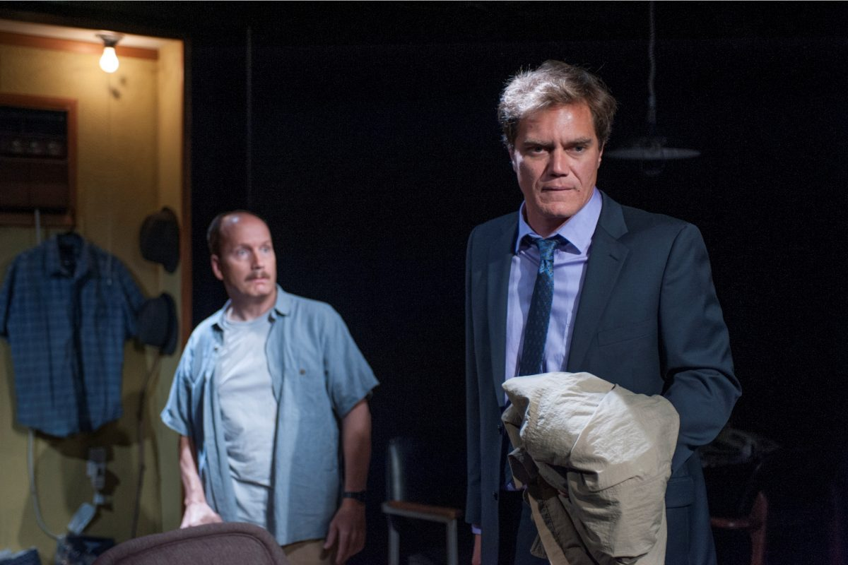 "Guy Van Swearingen (left) and Michael Shannon in ""Simpatico."""