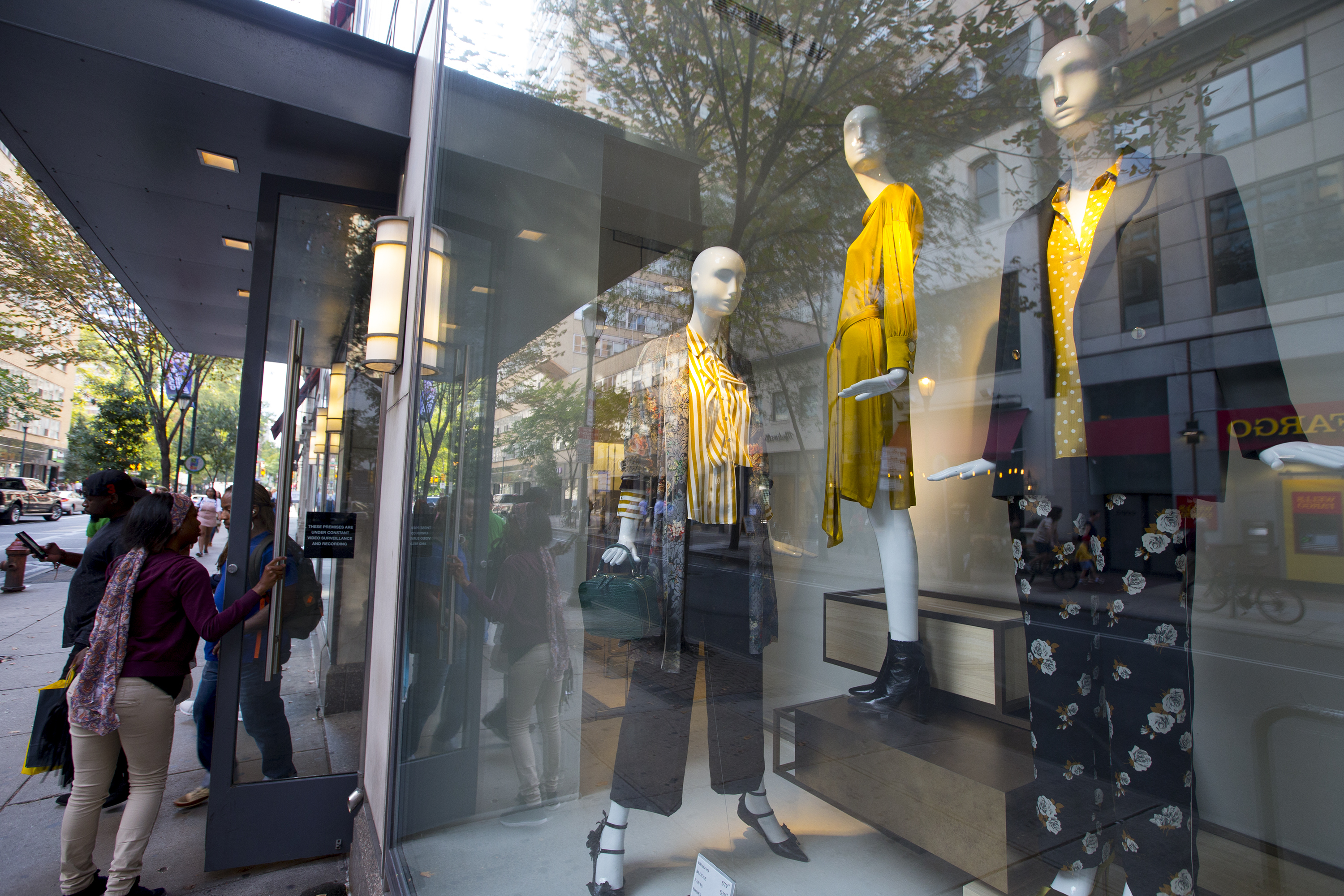 One of Zara's windows on 1715 Walnut Street in Center City. Up to now it had been the only Zara outpost in Pennsylvania.
