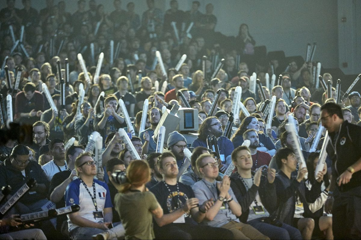 Fans cheered at the Overwatch World Cup in Anaheim, Calif., last November.