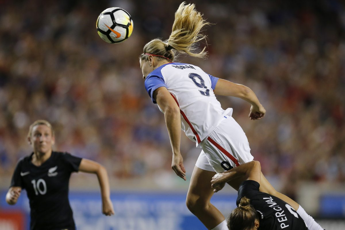 Lindsey Horan had a goal and an assist in the United States women's national soccer team's 5-0 win over New Zealand in Cincinnati.