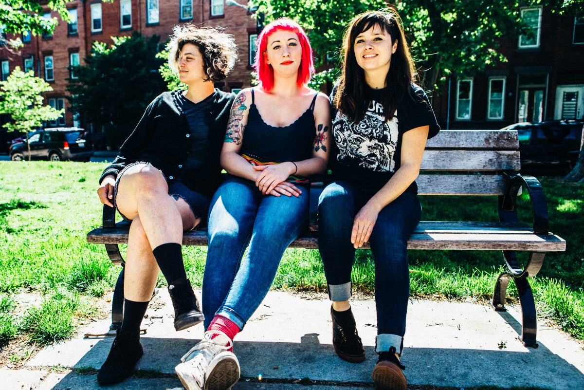Cayetana is the Friday night headliner at the inaugural two-day Philly Music Festival at the World Cafe Live. (Left to right) Allegra Anka, Augusta Koch and Kelly Olsen.