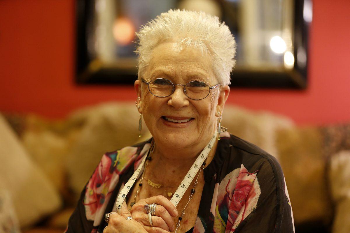 Nancy Gold at her home studio, King's Collar Shirtmakers, in Ardmore.