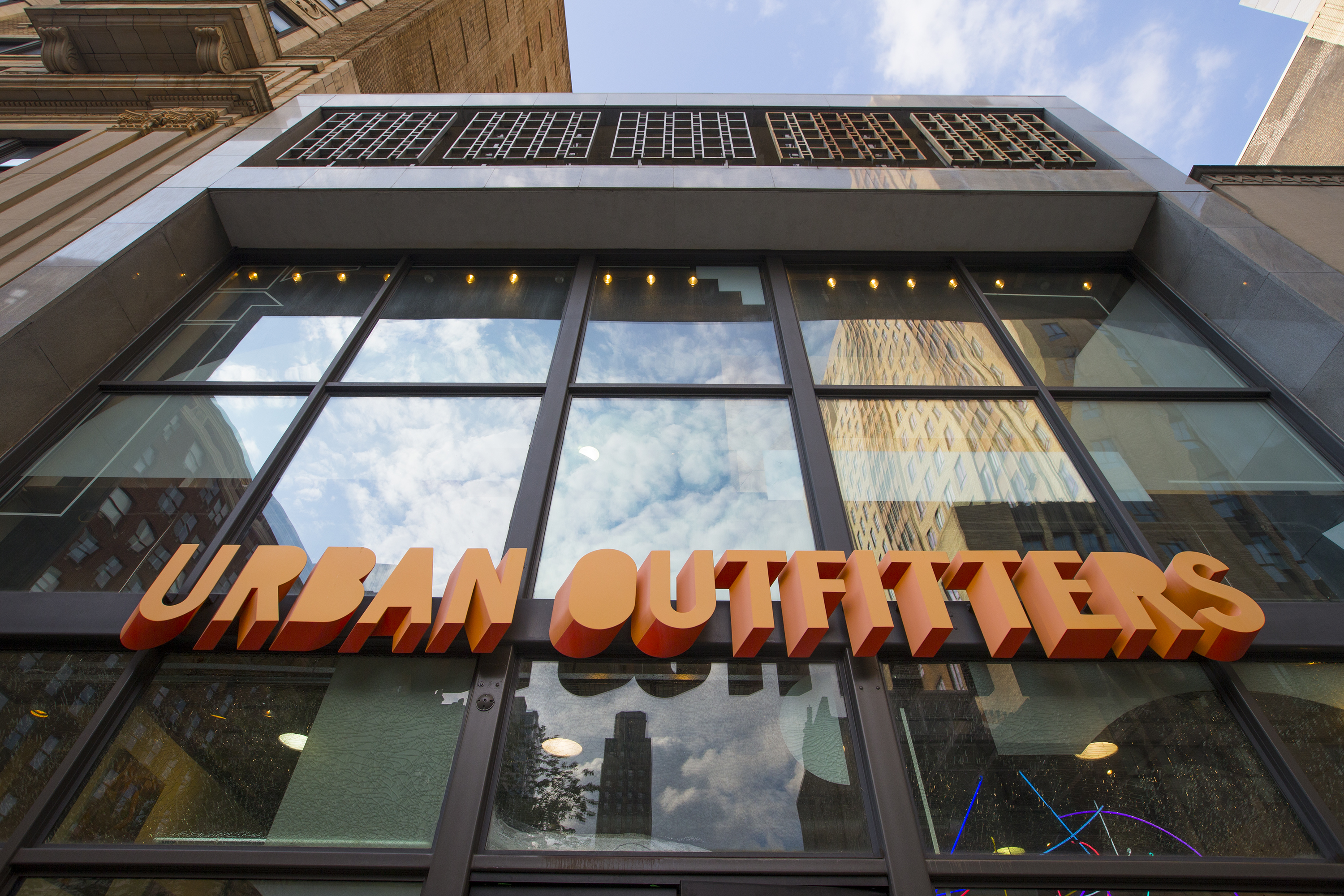 Urban Outfitters on 1627 Walnut Street in Center City, in one of Midwood´s buildings.