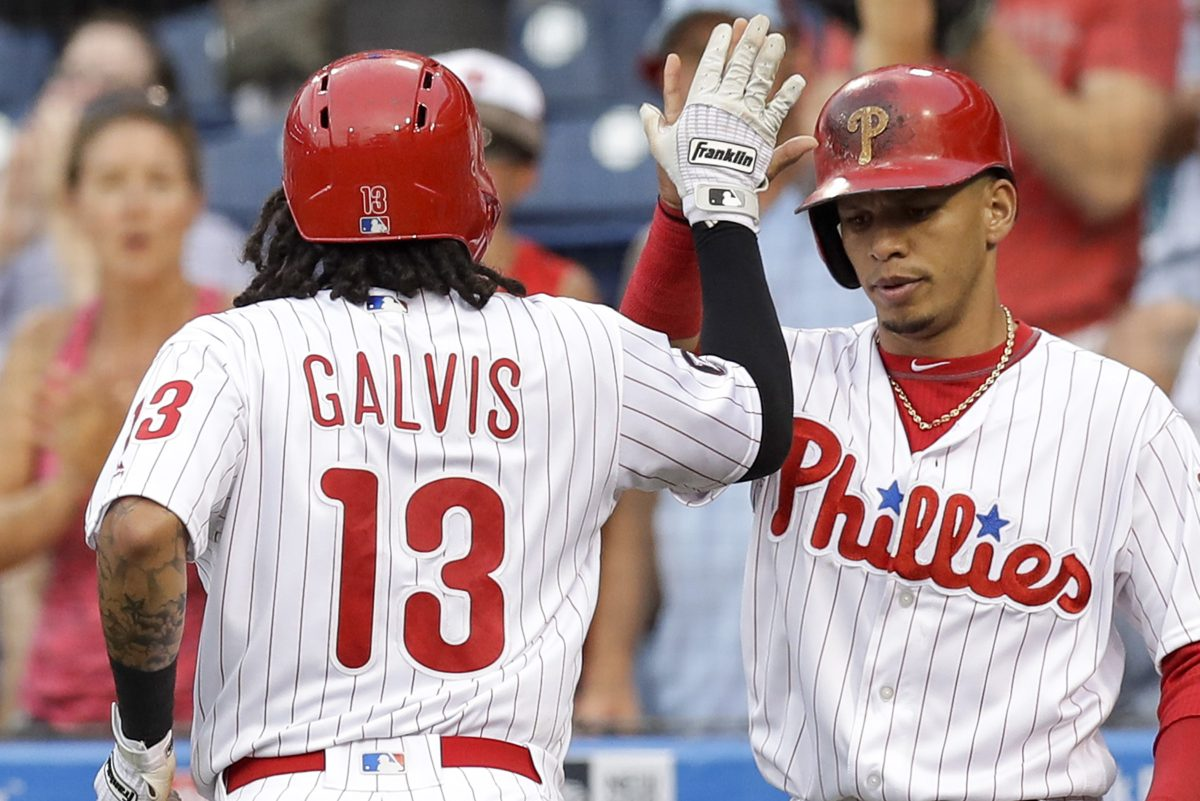 Phillies middle infielders Freddy Galvis (left) and Cesar Hernandez are both talented players who may not get their due on the trade market.
