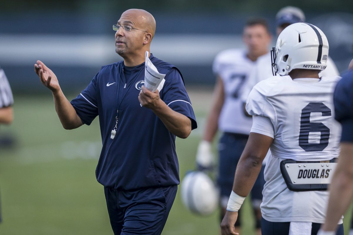 Penn State coach has been blasting music at practice to get the Nittany Lions used to crowd noise.