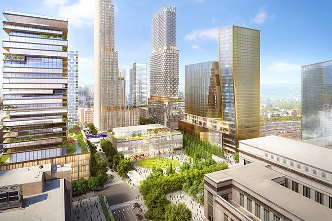 The Schuylkill Yards Innovation District, envisioned as a center for expanding tech companies, could be an attractive home for Amazon.