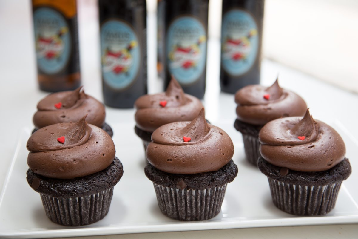 Yards Chocolate Love Stout Cupcakes, at Sweet Box Cupcakes.