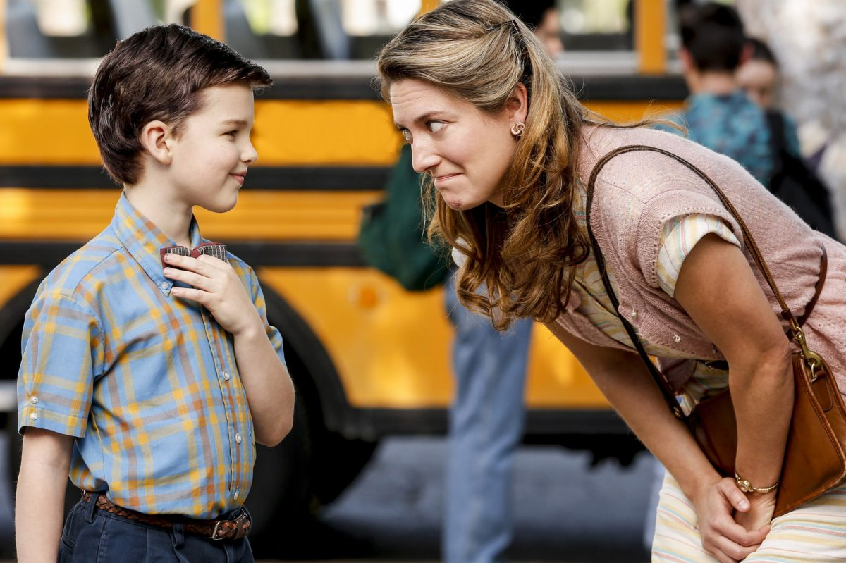 "Iain Armitage  plays the young Sheldon Cooper and Zoe Perry plays his mom in ""Young Sheldon."""