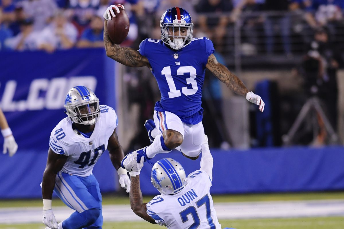 Odell Beckham Jr.'s numbers have been down as he battles an ankle injury.