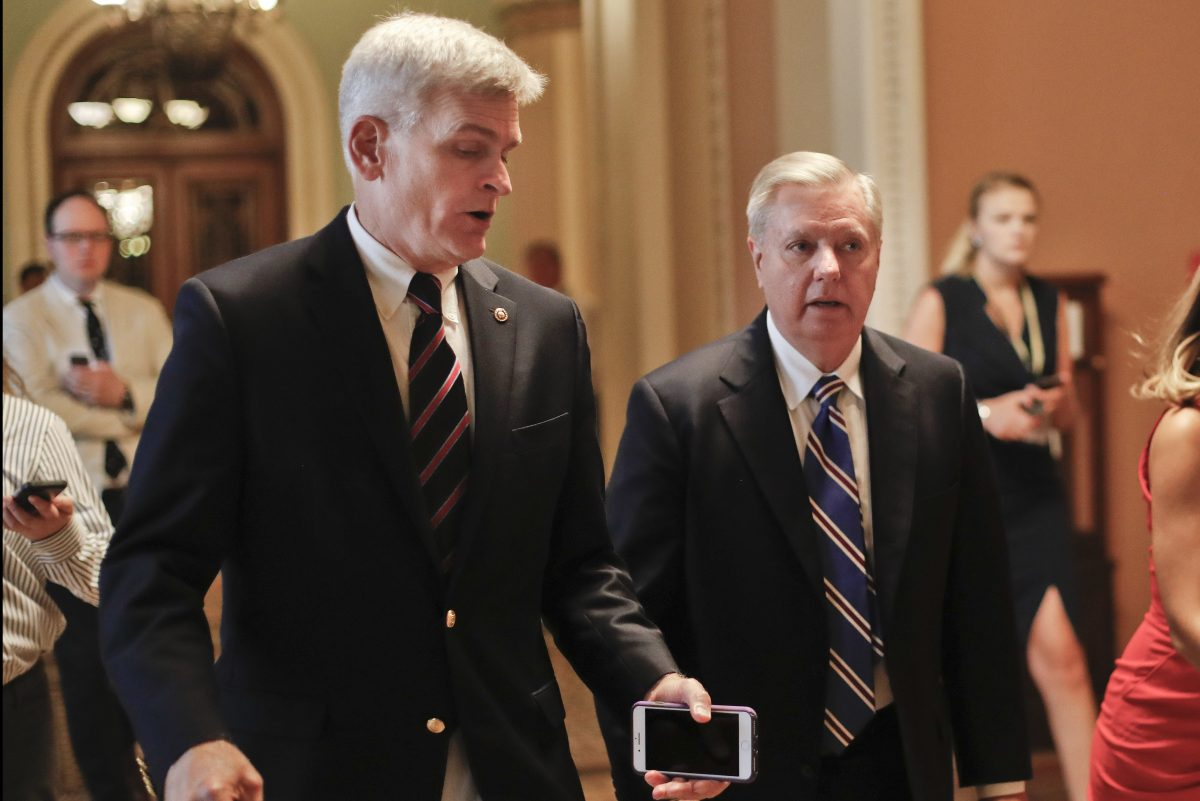 Sens. Bill Cassidy, (R.-La.) (left) and Lindsey Graham, (R., S.C.) have written the latest GOP plan to repeal the Affordable Care Act.