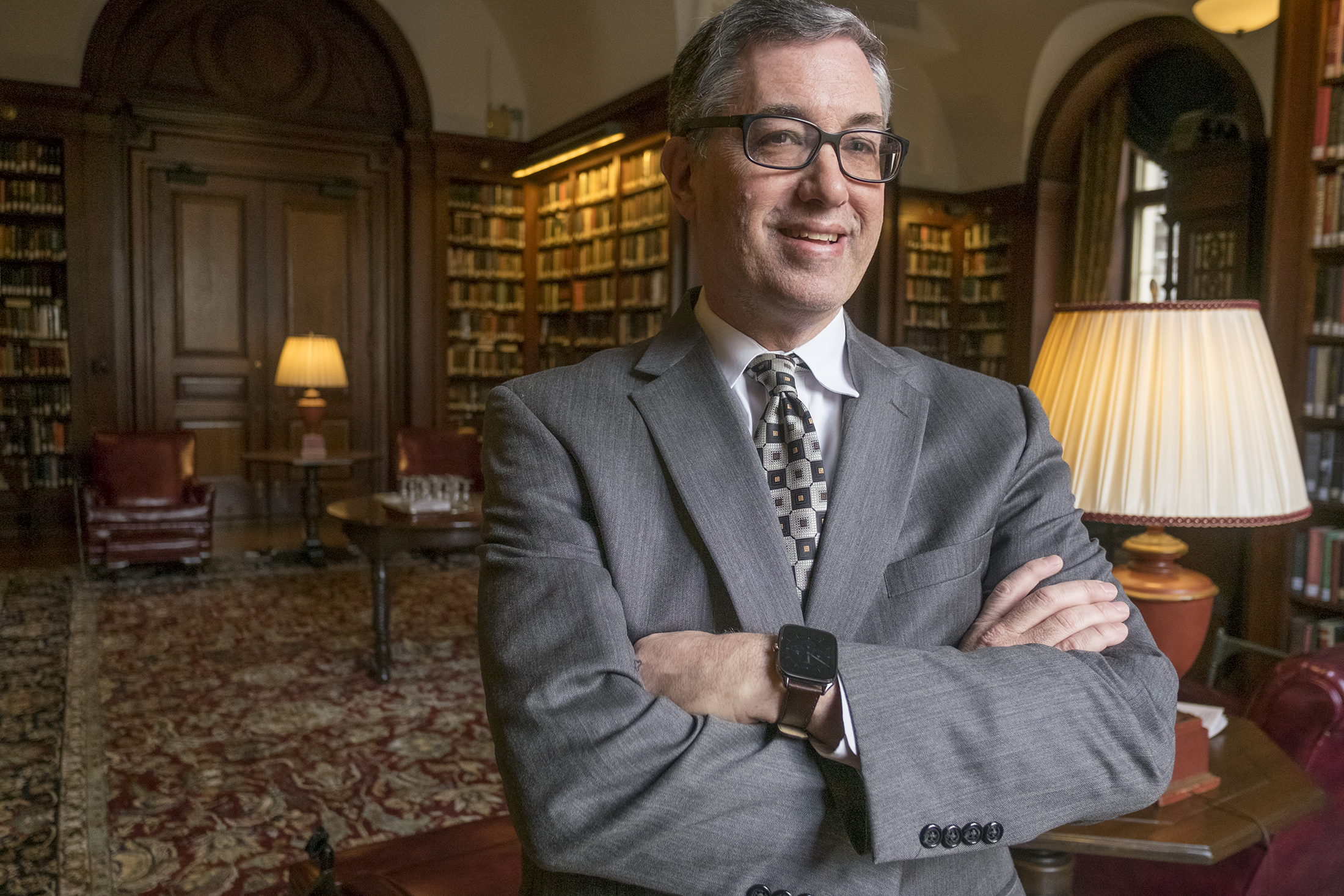 Monday, Feb 27, 2017, Diane Mastrull profiles Marc Kramer, executive director of the Angel Venture Fair which will be held for the 19th time in May. Here Marc Kramer stands in the library at the Union League. ED HILLE / Staff Photographer.