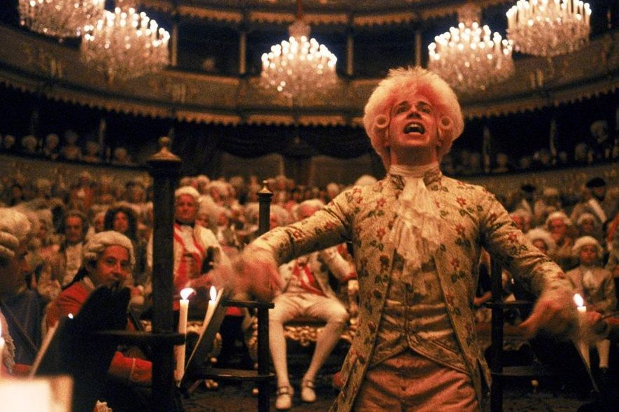 "Tom Hulce as Mozart in the 1984 film ""Amadeus."""