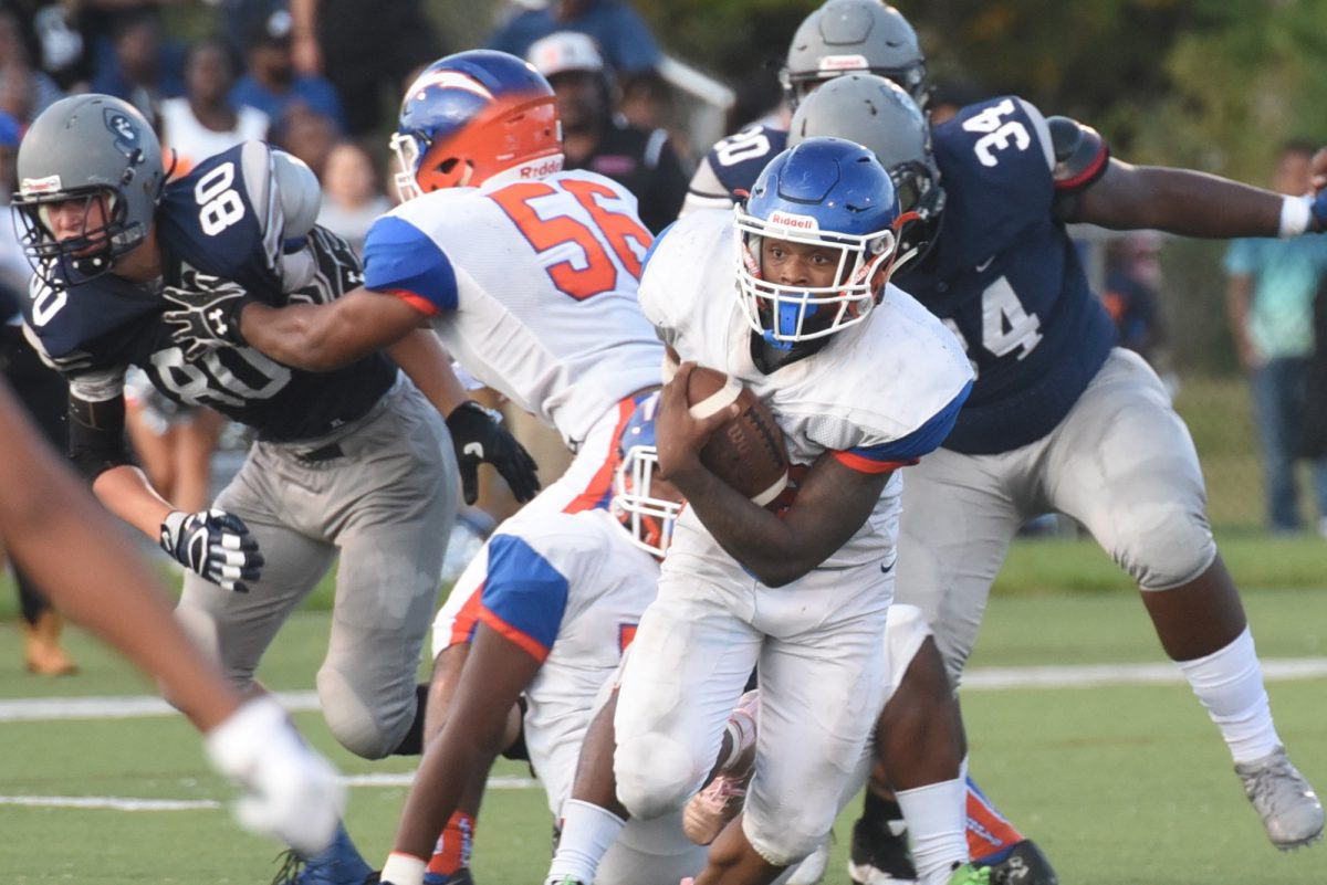 Millville running back Clayton Scott carried the Thunderbolts on Friday night against St. Augustine.