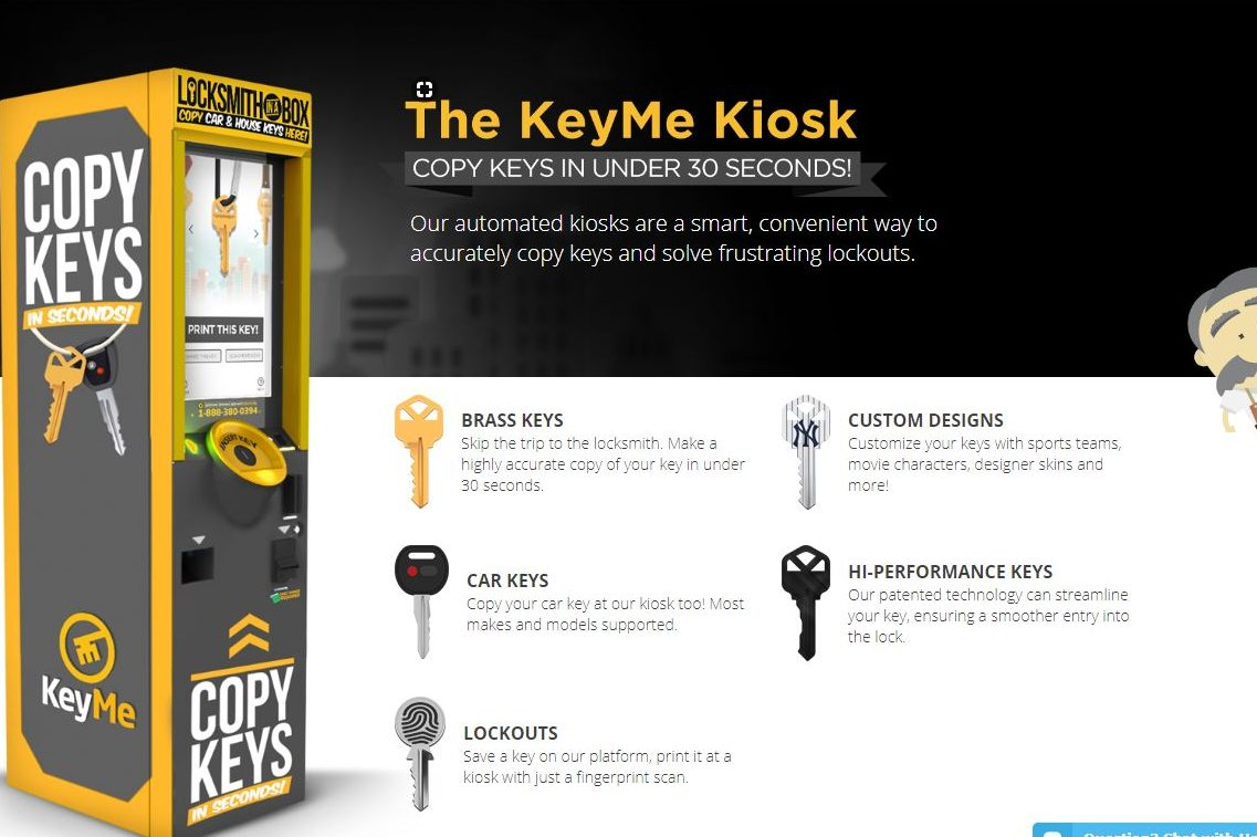 KeyMe offers both self-service key-copying machines and special scanning technology for sharing and remotely duplicating keys.