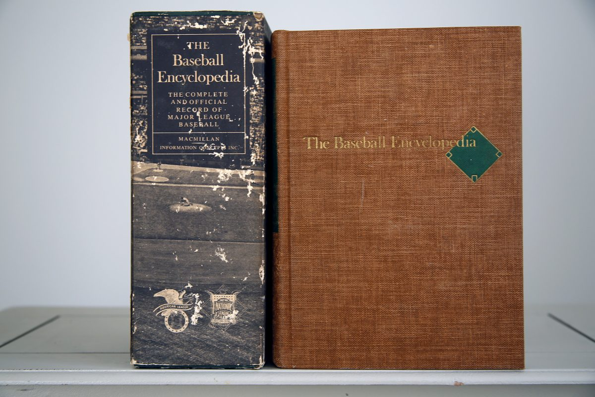 The 1969 edition of the Baseball Encyclopedia, with its protective box.