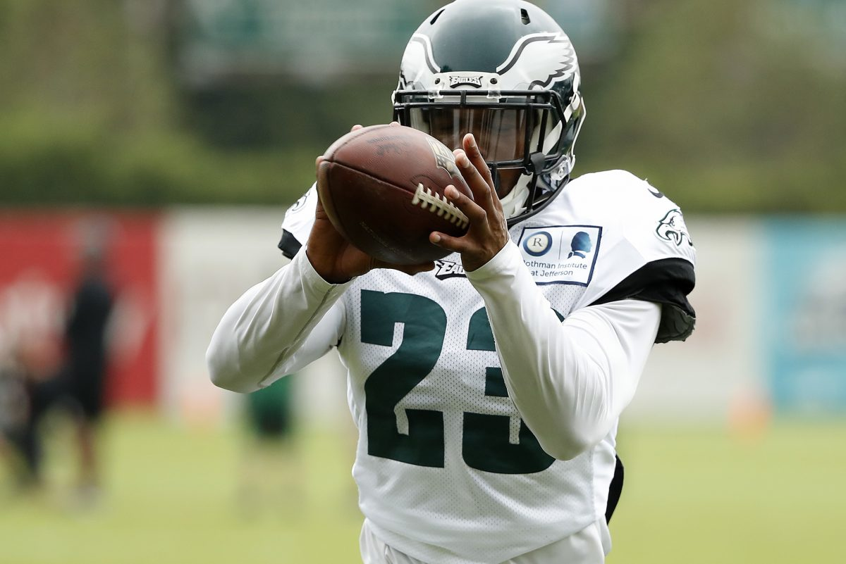 Starting safety Rodney McLeod showed up for practice Friday in helmet and cleats, after coach Doug Pederson included McLeod in a group Pederson said wouldn't practice.