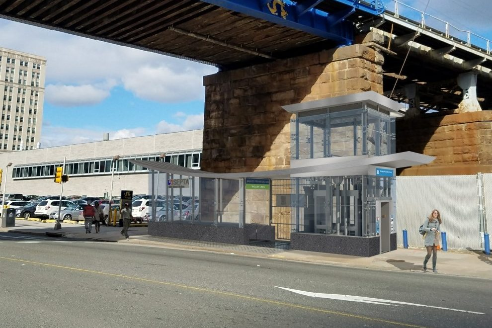 Artist´s rendering of the updated headhouse at 31st Street on the Market-Frankford Line.