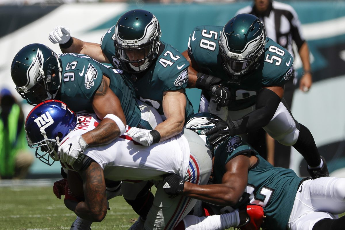 Philadelphia Eagles linebacker Mychal Kendricks says working on breathing and mindfulness has helped lead to his improved play this season/