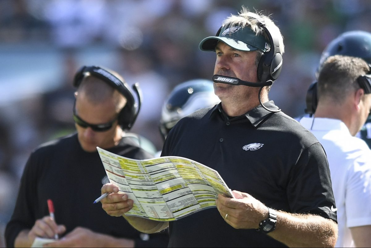 Eagles head coach Doug Pederson consulted with assistant Ryan Paganetti and used data when deciding to go for it on fourth down Sunday.