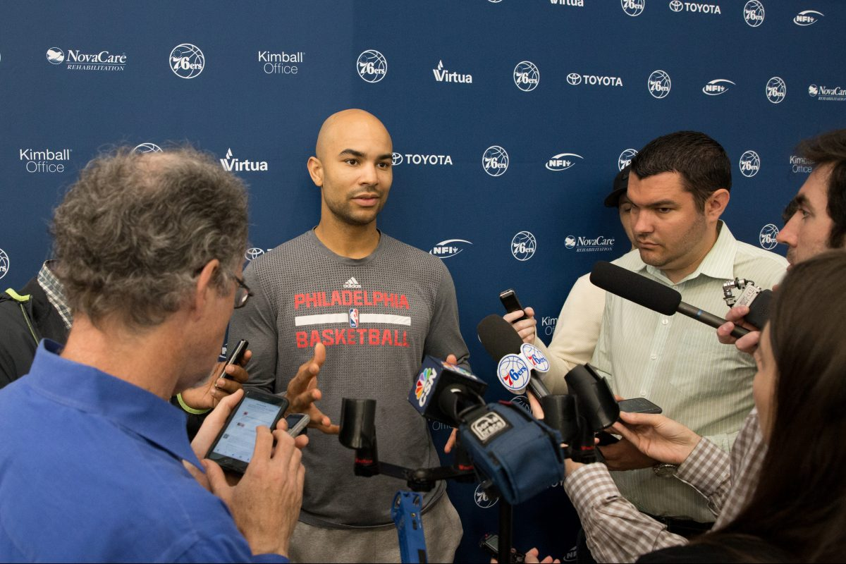 """Sixers guard Jerryd Bayless says: """"Now it's time to figure out as a whole — black, white, Mexican, Asian, whatever — how are we going to move forward?"""""""