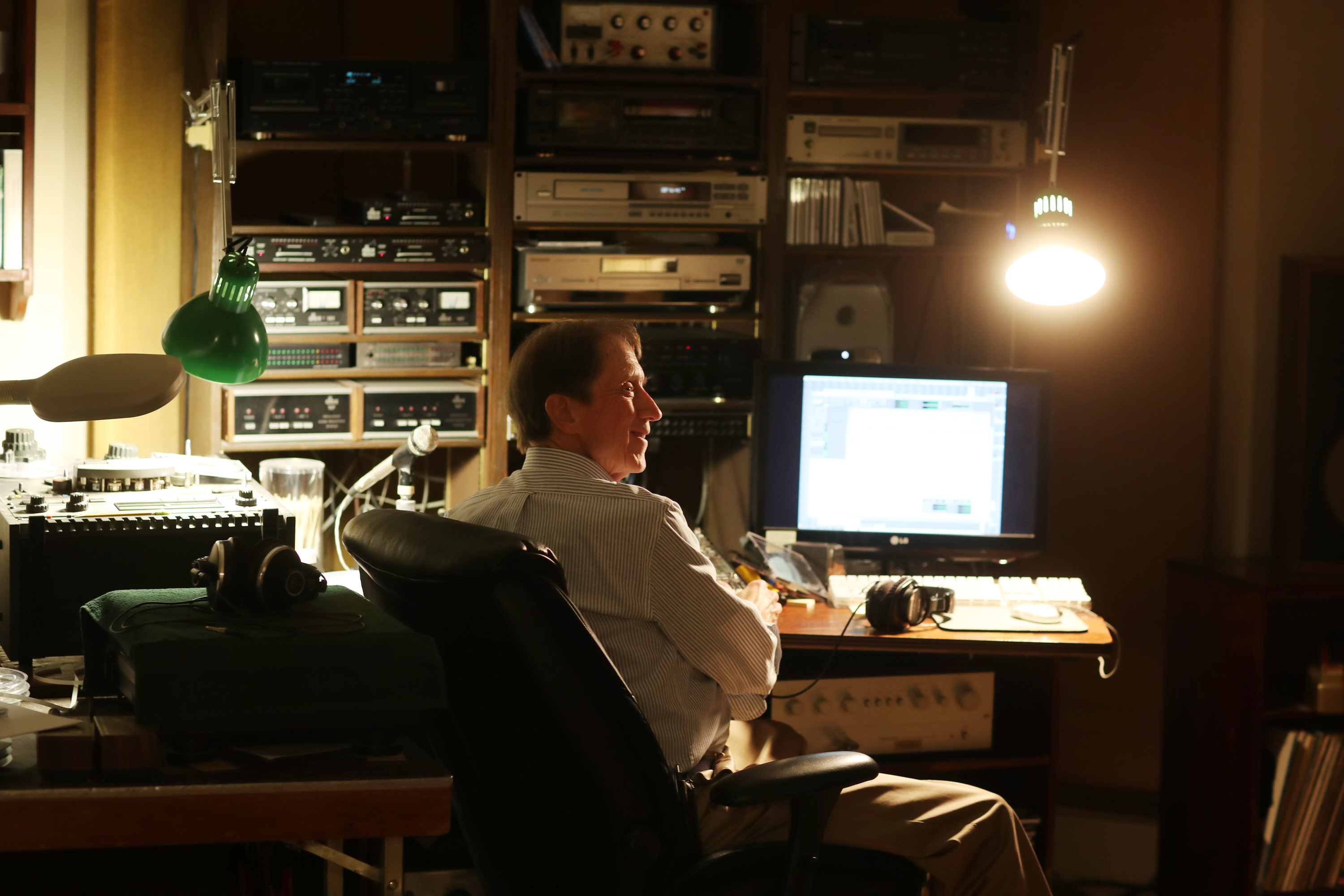 Emmet Robinson, 78, has been running King Studio Records in Malvern for 50 years,