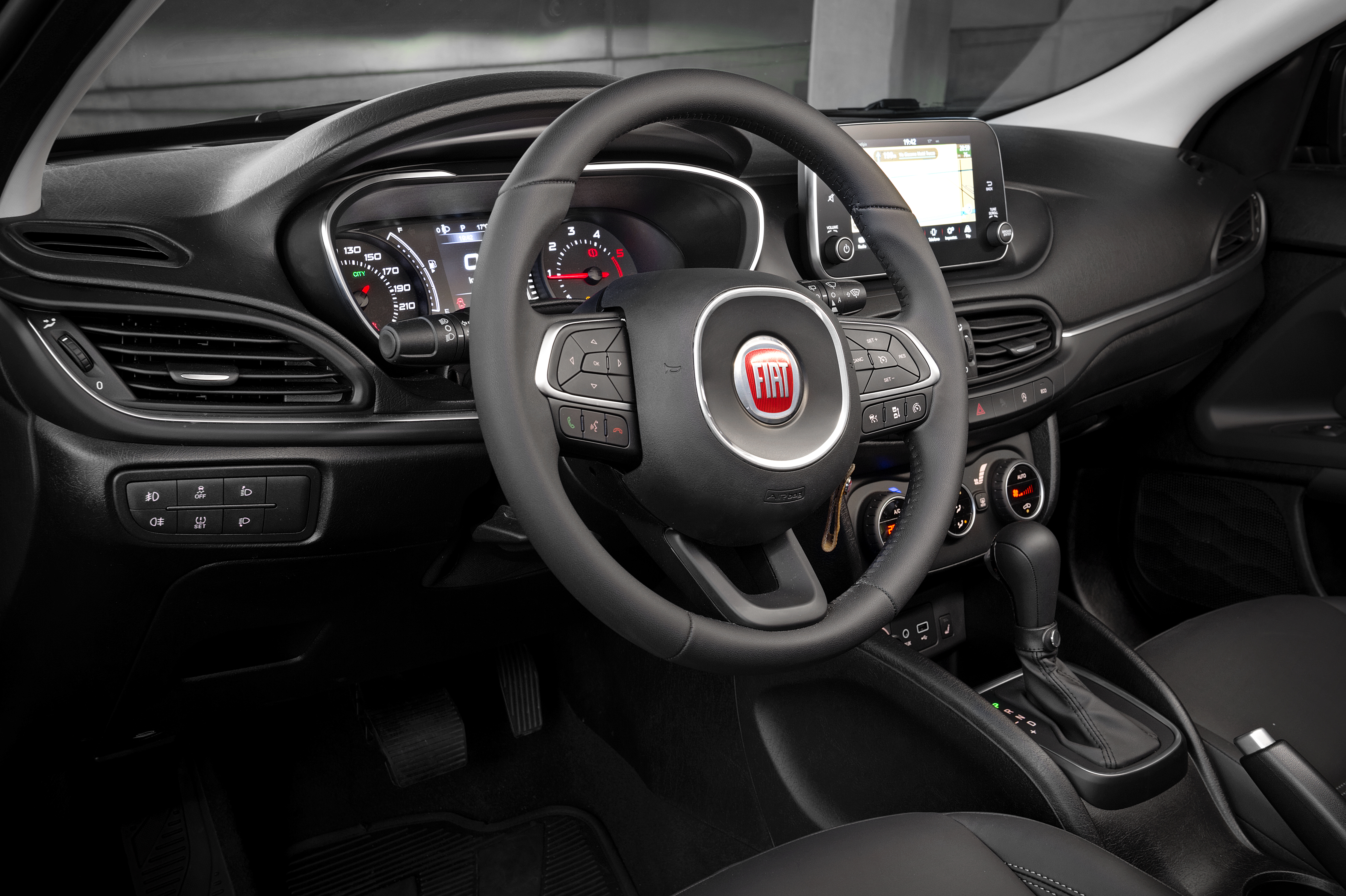 The interior of the 2017 Fiat Tipo station wagon was roomy and comfortable, with radio controls that were easy to operate.