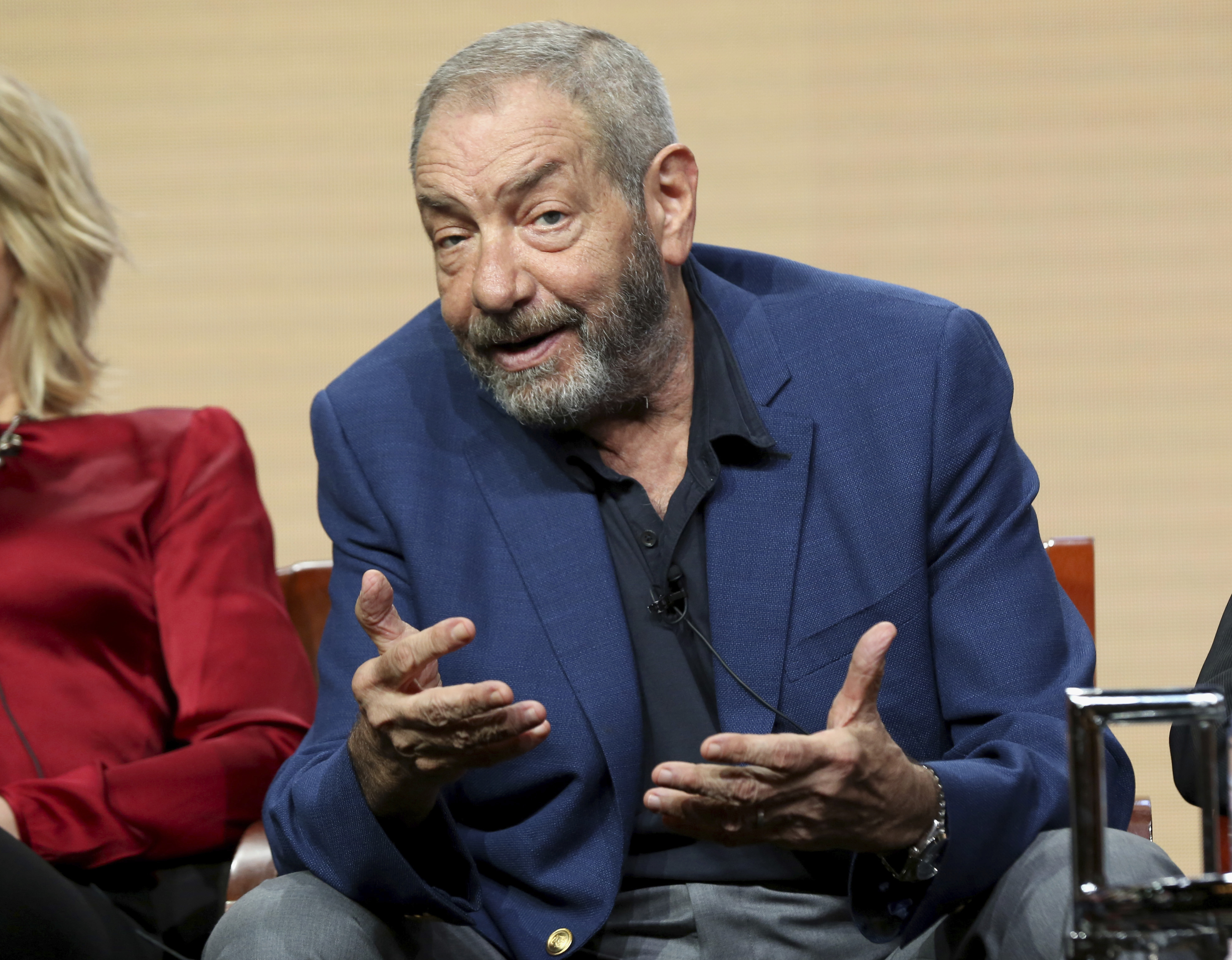 """Law & Order"" creator Dick Wolf speaks at the ""Law & Order True Crime: The Menendez Murders"" panel during the NBC Television Critics Association´s summer meetings on Aug. 3 in Beverly Hills, Calif."