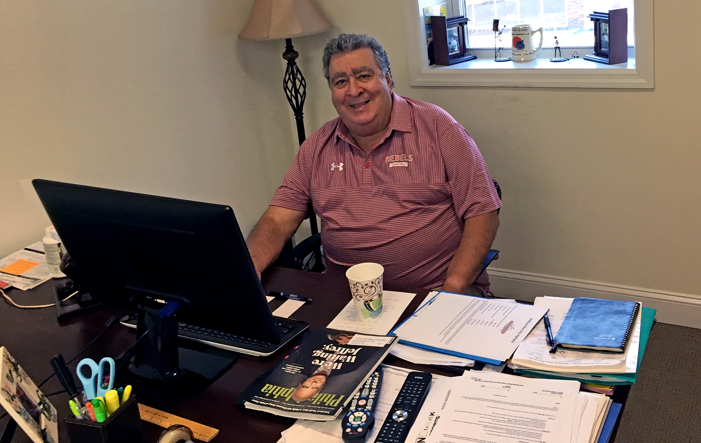 Bill McDonough in his office in Havertown. (MIKE JENSEN / Staff)